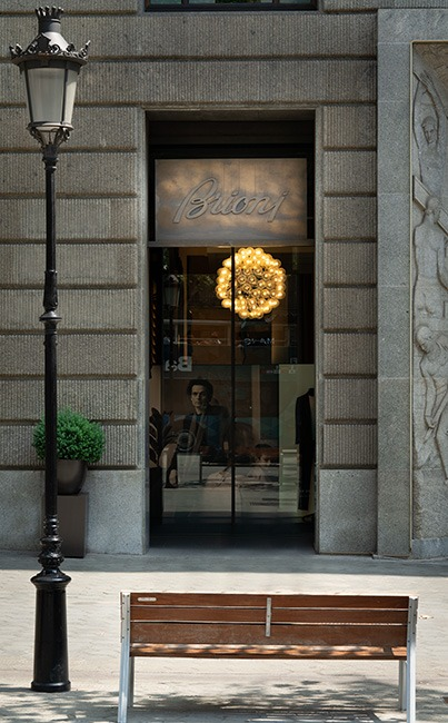 Brioni shop outside Barcelona