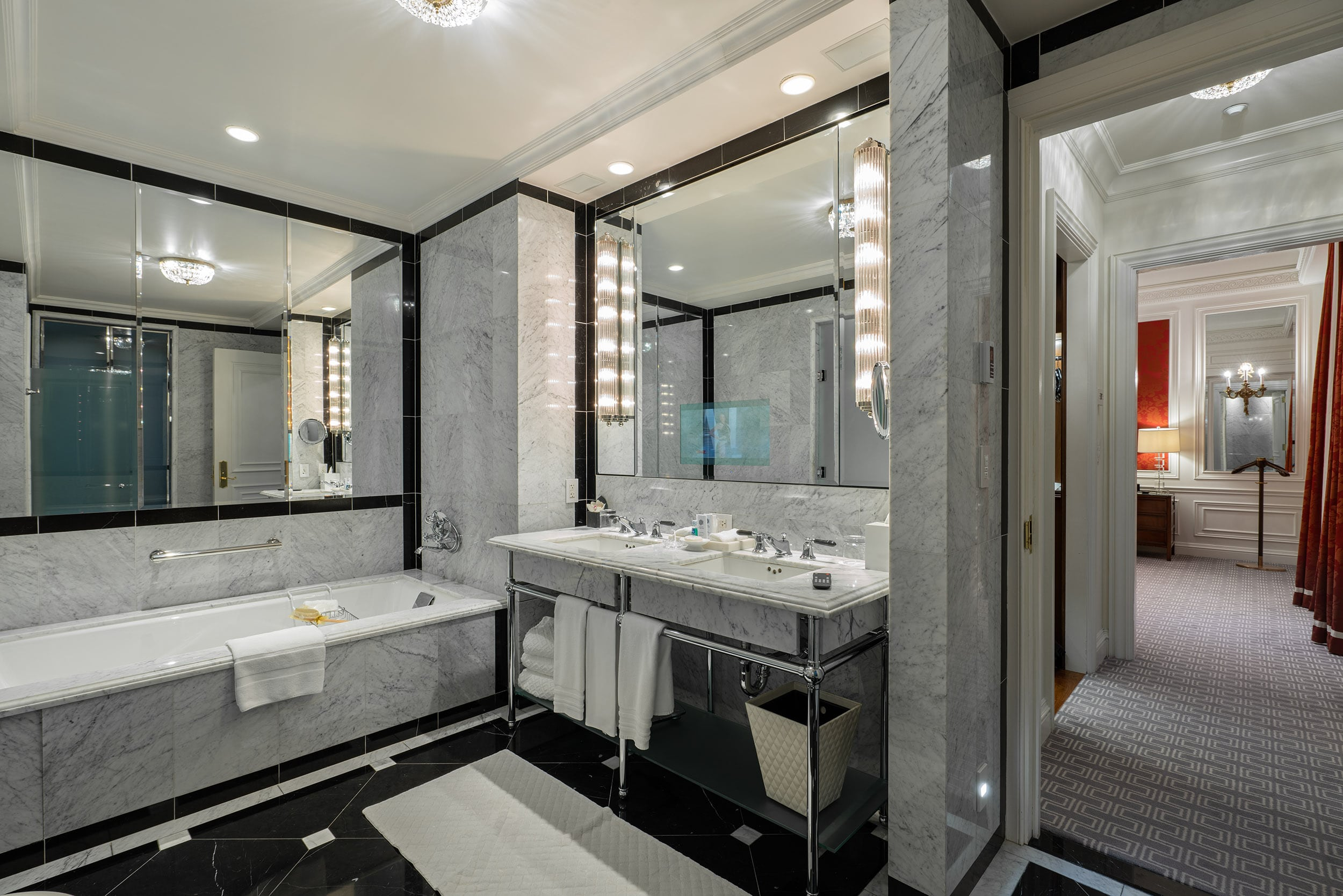 Bathroom in the Grand Suite at The St Regis New York
