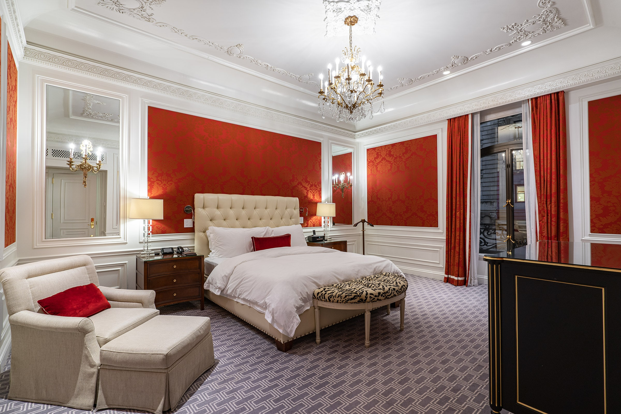 Bedroom in the Grand Suite at The St Regis New York