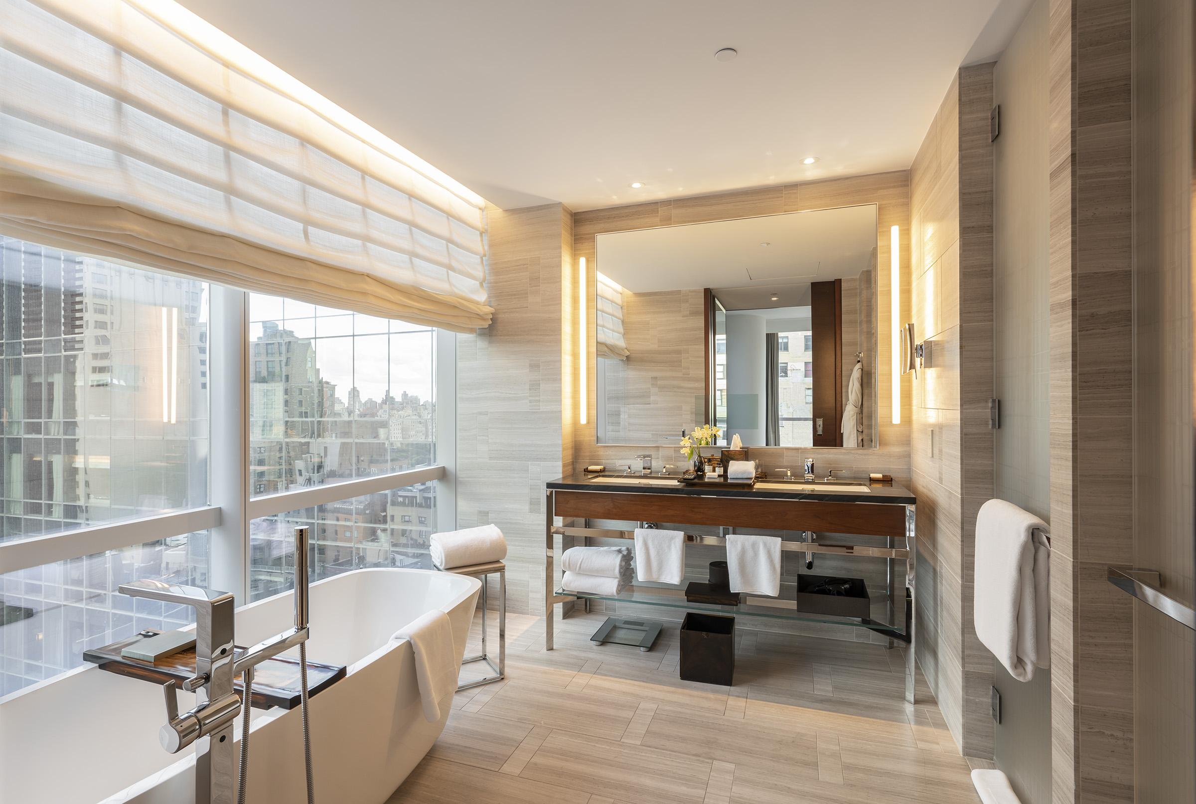 Bathroom of the 1 Bedroom City View Suite, in Park Hyatt New York