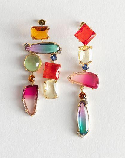 Stories rhinestones earrings