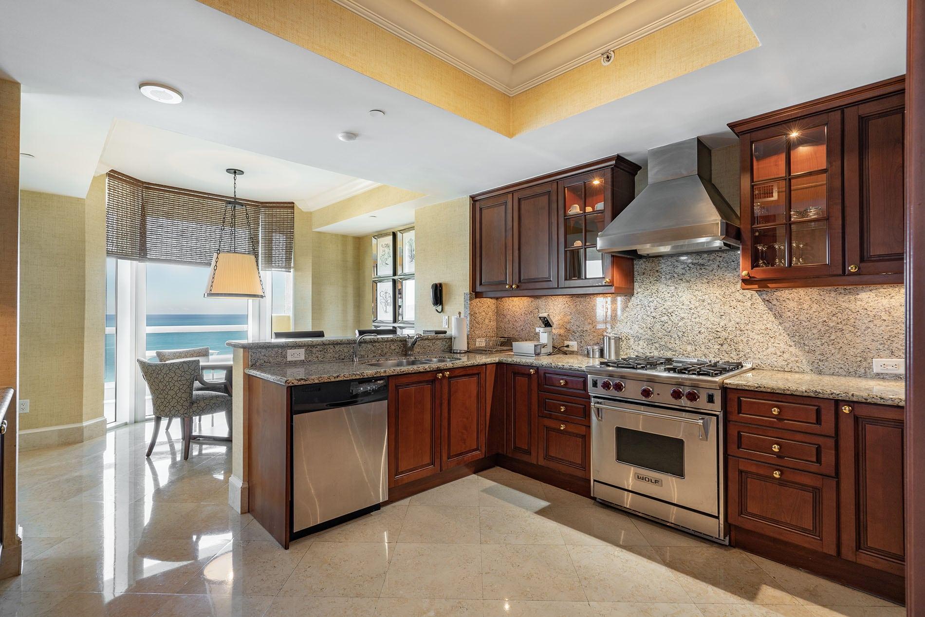 Acqualina Miami kitchen