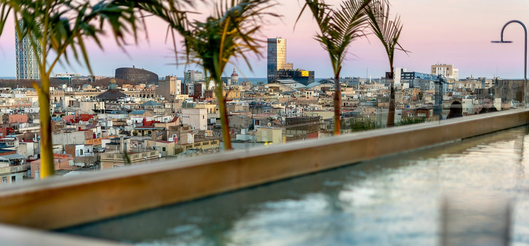 Rooftop plunge pool at The Barcelona EDITION