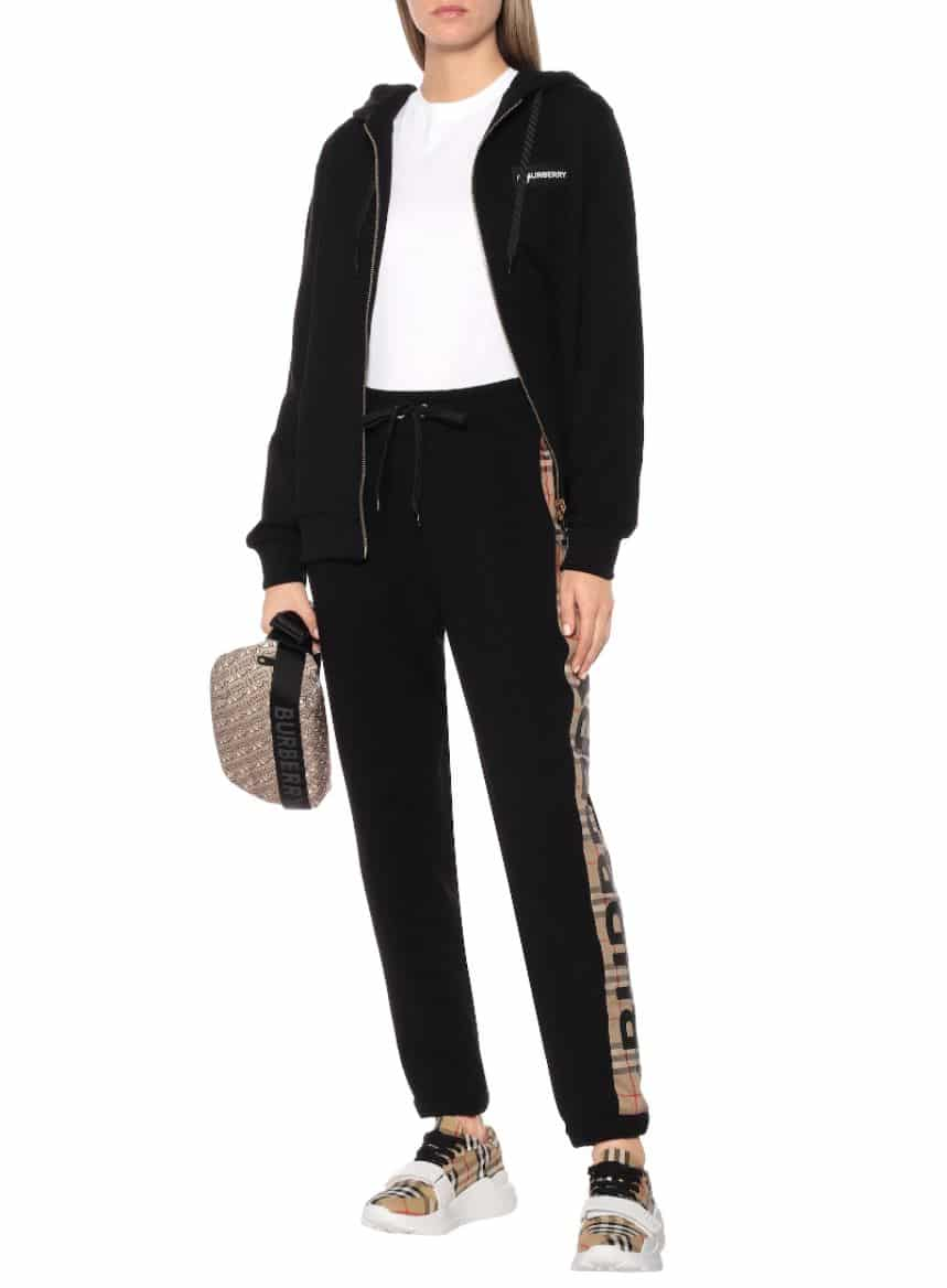 Girl in Burberry tracksuit