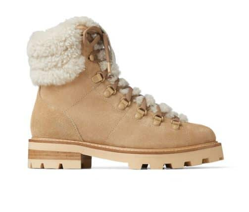 shearling beige boots