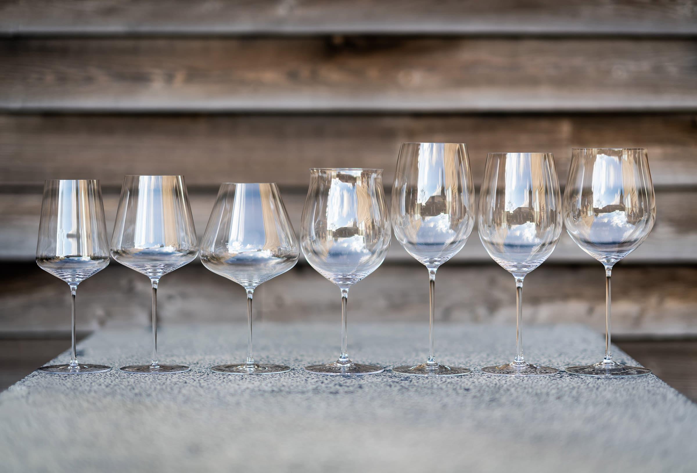 Wine glasses from Riedel and Zalto