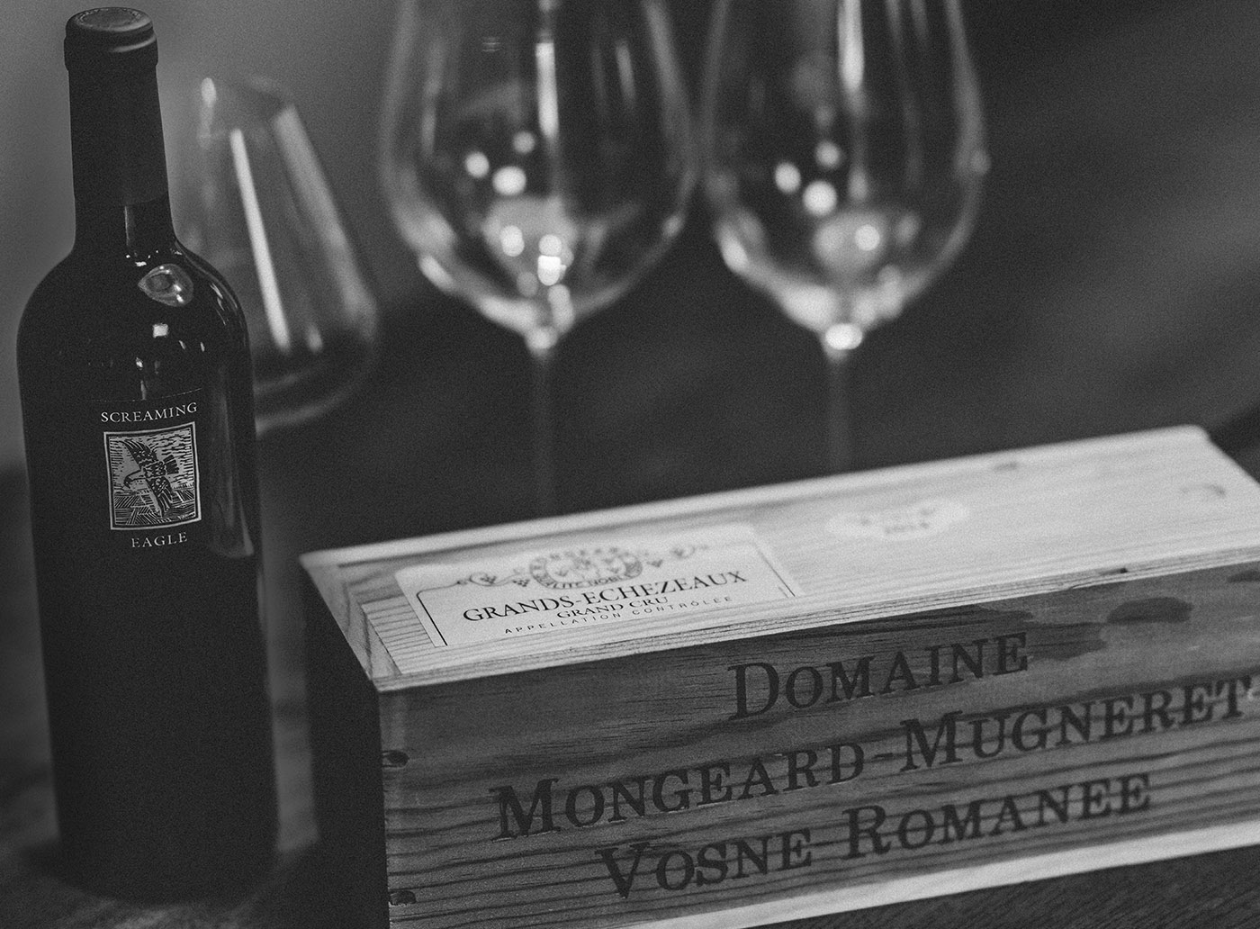 Screaming Eagle and Mongeard Mugneret Grands Echezeaux wines