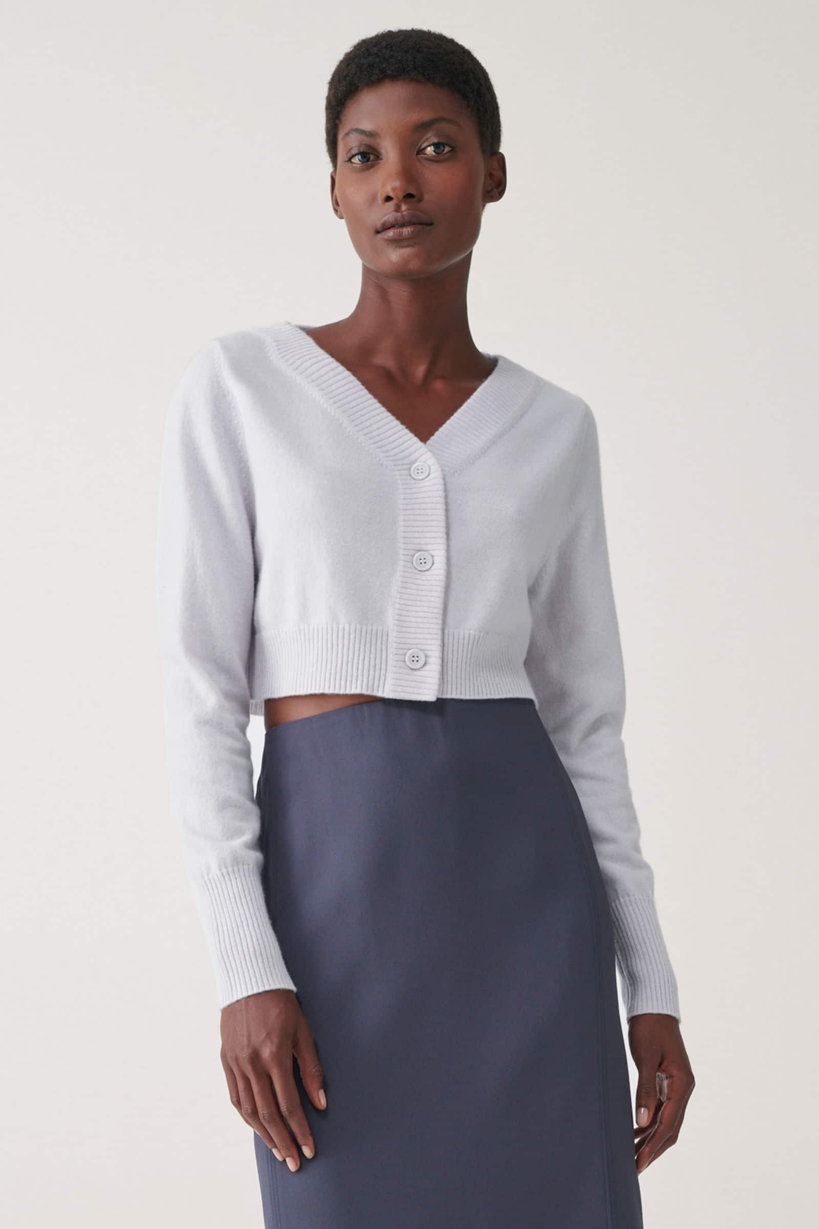 Grey cropped cardigan