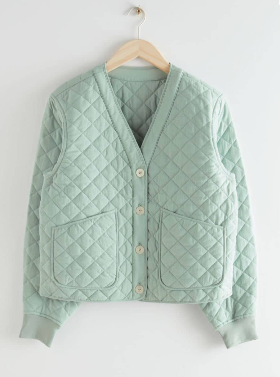 Turquoise quilted jacket