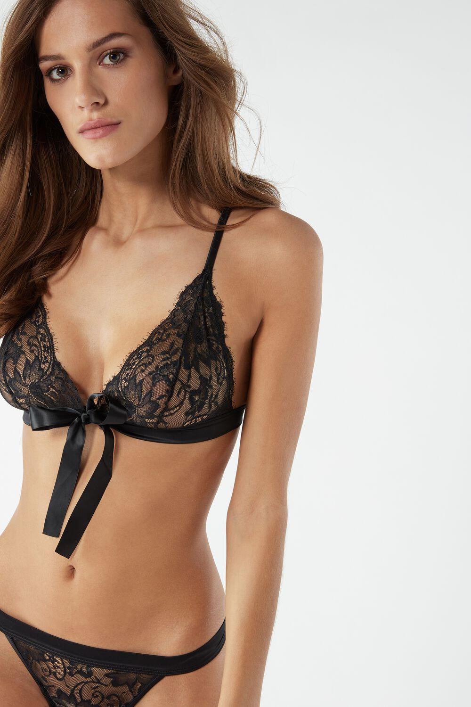 Girl in sexy black underwear