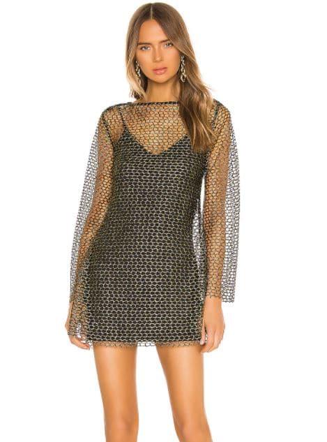 Girl in net dress