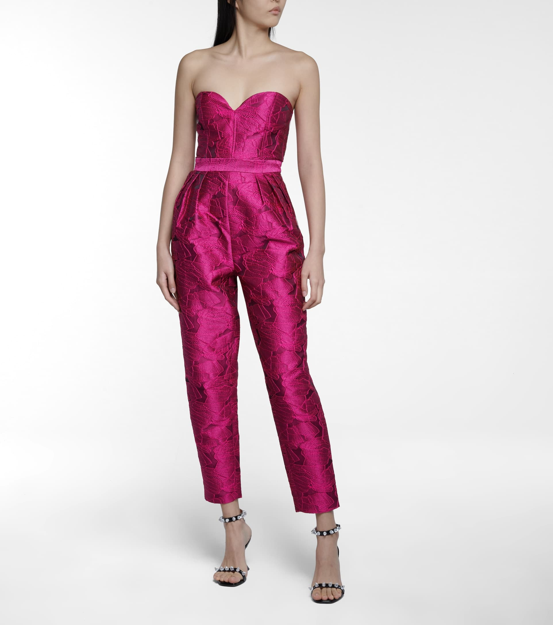 Girl in a pink jumpsuit