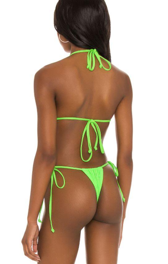 Girl in green bikini thong